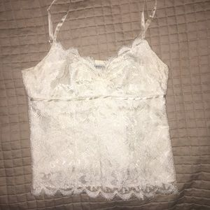 Cream lace camisole paid $225